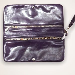 ALDO Purple Faux Patent Leather Wristlet